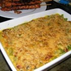Anika's Cheesy Green Bean Casserole  - Bacon flavored cheese spread gives new life to traditional green bean casserole.