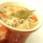 Smoked Turkey Wild Rice Soup - A comforting bowl of creamy smoked turkey soup, full of vegetables and wild rice, makes a warm and fragrant meal when the cold winds blow.
