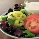 Italian Restaurant-Style Salad Dressing II - This dressing is delicious and just like the creamy dressing served at a popular Italian restaurant. You may add sugar to taste if it seems too tart.