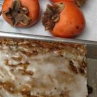 Persimmon Bars - Persimmon bars as done by my husband's grandmother for years.  A family holiday favorite.  Sweet frosting tops these delicious cakes.