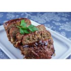 Grilled BBQ Meatloaf - Savory beef and pork meat loaf with a sweet barbecue sauce topping is grilled right on the grates, with no pan, for a smoky flavor.