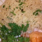 Delicious Angel Hair Pasta - A quick vinegar, lemon juice, and fresh herb dressing is tossed with angel hair pasta in this single-serve dinner dish.