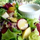 Deeeelicious Vidalia Dressing - Yummy dressing made with fresh Vidalia onions.  If you can't find Vidalia onions, another sweet onion will do.