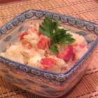 Brian's German Potato Salad - Bacon, onions, and celery seed flavor this rich, warm German potato salad.