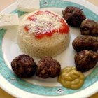 Keftedes - Greek Meatballs - These Greek-style meatballs are made with ground beef and grated potatoes.  Serve with a squeeze of lemon for a taste of the island of Cyprus.