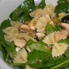Spinach Pasta Salad - A unique salad, packed with iron!  Your kids will eat spinach, as long as you don't tell them it's spinach.  Popeye would have loved this!