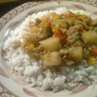 Chicken Stew with Pepper and Pineapple