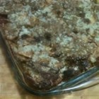 Apple Bread Pudding Pie - This pie combines bread pudding and apples with a crumbly streusel topping.