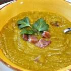 Split Pea Smoked Turkey Soup - An easy slow-cooked split pea soup enriched with carrots, potatoes, and smoked turkey legs makes a flavorful, rib-sticking meal when days start to turn cold.