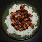 Whiskey Chicken - Sauteed chicken chunks braised in a sweet, savory whiskey sauce.