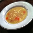 Rivel Soup - This is a Pennsylvania-Dutch recipe for homemade rice-shaped egg noodles cooked in broth.