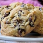 Cherry Chocolate Chunk Cookies - A spectacular cookie with dried cherries, chocolate chunks, pecans, and walnuts is especially nice made with the cherries from the Cherry Festival in Traverse City, Michigan.