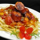 Sweet Italian Sausage Ragout with Linguine