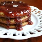 Peanut Butter and Jelly Oatmeal Pancakes - Not just your average pancake. Kids, peanut butter lovers, and those looking for a flavorful oatmeal pancake variation will gobble these up!