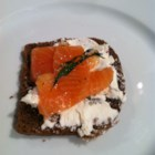 Gravlox - Gravlox is a Scandinavian name for salt-cured salmon, which is not cooked. It's a popular item in Scandinavian Cuisine. Some, like this one, are made with vodka.