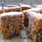 Applesauce Raisin Cake - A simple, moist and delicious cake made with raisins, walnuts and applesauce.