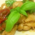 Spicy Basil Chicken - Chicken and basil are cooked into a delicious Thai meal.