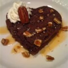Caramel Brownie Hearts - These caramel drizzled, heart-shaped brownies are a sweet and special Valentines Day treat!