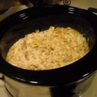 Stroganoff Soup - Homemade stroganoff...soup? Now you can enjoy beef stroganoff as a soup, using your slow cooker. Round steak, onion and pasta are cooked in mushroom soup and sour cream, with just a splash of steak sauce.