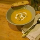 Potage aux Legumes (Green Vegetable Soup) - A smooth and flavorful pureed vegetable soup with watercress and habanero peppers. Served with crusty French bread and a drizzle of good extra virgin olive oil and vinegar for the perfect finishing touch.