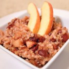 Slow Cooker Oats - Delicious cinnamon-apple oats cook slowly all night in the slow cooker, and are ready for a hot breakfast the next morning.
