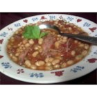 Slow Cooker Calico Bean Soup - A pound of any variety of dried beans soaked overnight and meaty soup bones are the base for this hearty stew seasoned with garlic powder, celery seed and paprika.