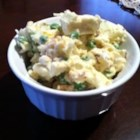 Ginny's Cauliflower and Pea Salad - A nice hearty salad, great with any meal or by itself for lunch. Serve immediately or chill and serve later.