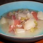 Lemon Salmon Soup - This is a tasty winter chowder with some summer hints, courtesy of the lemon.