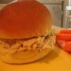 Hot Chicken Sandwiches II - Cooked chicken is mixed with creamy soup and stuffing mix before being spooned onto sandwich buns for a quick meal. I added the dressing and now myself and daughters are asked to bring this to potlucks - constantly!  I don't especially care for 'regular' shredded chicken sandwiches, but really like MY version.