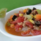 Turkey Taco Soup - Loaded with veggies and spices, the flavorful soup is hearty and easy to make.