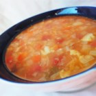Fat-Free Vegetable Soup - This healthy soup is loaded with flavor and nutritious vegetables! Green bell peppers, cabbage, and cauliflower figure prominently in this ambrosial dish.