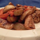 Sean's Mommy's Roasted Root Vegetables - I wanted to do something different as a vegetable side dish.  It was Thanksgiving, so I got a bunch of root vegetables and roasted them.  They were a hit and are now a staple at our holiday table.  I cook them during the year sometimes, as well.