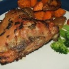 Mojo Roast Chicken (Pollo Asado) - This is a recipe for Cuban-style roasted chicken marinated in 'mojo' sauce.
