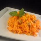 Russian Carrot Salad - Carrots, garlic, walnuts, and mayonnaise are all that are needed to make this quick and easy slaw.