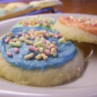 Sugar Cookie Frosting - Confectioners' sugar and shortening make a quick and easy frosting for your favorite cookies.