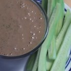 Peanut Cilantro Dip - This exotic tasting dip made with easily obtained ingredients is perfect for vegetables and bread!
