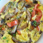 Cally's Omelet - Steak and veggies are sauteed together in this delicious morning favorite made with egg substitute.
