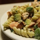 Smoked Salmon Pasta with Scotch - Delicate smoked salmon in a creamy reduction sauce spiked with Scotch -- full of flavor!