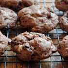 Lots of Chocolate Cherry Cookies - The addition of coffee granules and dried cherries places these triple chocolate cookies onto a whole new level.
