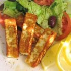 Halloumi Cheese Fingers - Fry or grill this Cypriot-style cheese and serve with a Greek salad and crusty bread for a complete meal.