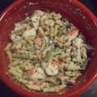 Crab and Shrimp Pasta Salad - Imitation crab meat and mini shrimp make for a wonderful pasta salad that everyone loves!