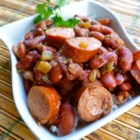 Creole Red Beans and Rice - Tender red kidney beans simmer slowly with Creole seasonings and smoked sausage, then served over hot cooked rice for a traditional and warming meal.