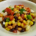 Spicy Bean Salsa - Also known as 'cowboy caviar', this twist on traditional salsa is enlivened with black beans, corn and black-eyed peas.
