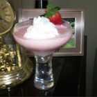 Strawberry Shortcake Drink  - This yummy pink ice cream-based cocktail blends the flavors of amaretto liqueur, vanilla ice cream, and strawberries.