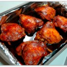 Oyster Sauce Chicken - Chicken thighs baked with a sweet, garlicky oyster sauce mixture. The easiest recipe to fix when expecting unexpected company! Best served over sticky white rice.