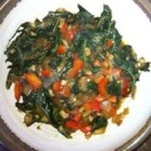 Gomen Wat - Collards are seasoned with turmeric, paprika, allspice, and ginger in this fragrant variation on a traditional Ethiopian vegetarian dish.