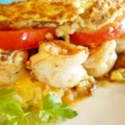 Aussie Omelet - Shrimp, veggies and cheese are the perfect filings for a hearty omelet!