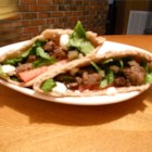LIZZY217's Lamb Gyros - Brandy, marjoram, and thyme flavor lamb cubes in this sandwich served with homemade tzatziki sauce.