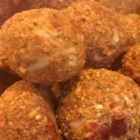 Mock Meatballs - Great tasting non-meatballs for spaghetti or served with a rich veggie gravy. If you don't have any egg substitute on hand, you can use 2 beaten eggs in its place.