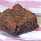 Brownies V - A delicious moist brownie that you can enhance with orange-flavored or raspberry liqueur.